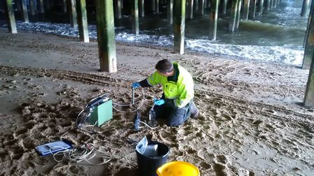 High levels of E. coli were found in water at Groyne 41. Picture: ENVIRONMENT AGENCY