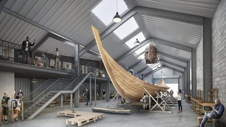 Designs for the Longshed at Whisstocks boatyard, one of the buildings covered by the new deed. Pictu