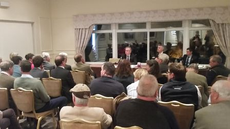 Around 40 local farmers were invited to a meeting with environment secretary Michael Gove at the Sto