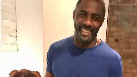 Hollywood actor Idris Elba signed two Ipswich Town teddybears in aid of Children in Need. Picture: I