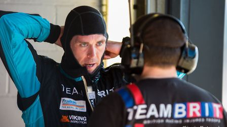 Warren McKinlay preparing to get into the car. Picture: KINGSIZE PHOTOGRAPHY