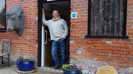 Jason Gathorne-Hardy, curator/director of the Alde Valley Spring Festival, standing outside the Seas