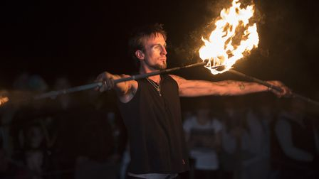 Christchurch Park will also have a fire troupe to keep you entertained. Picture: ANGLIA PICTURE AGEN