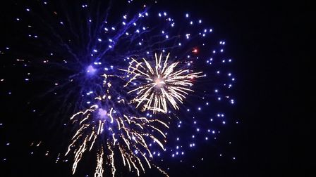 Spectacular fireworks at Heveningham Hall. Picture: FRANCES CRICKMORE