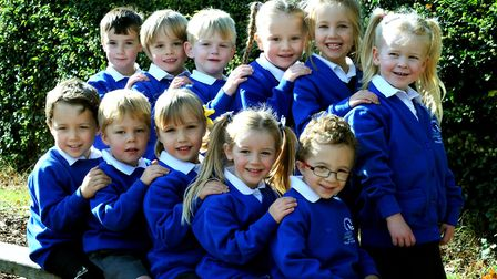 Easton Primary School First Class photo 2017. Picture: ANDY ABBOTT