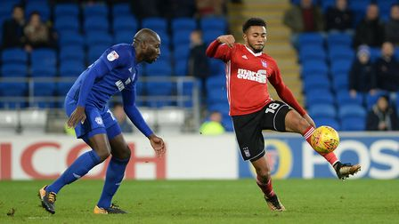 Grant Ward, pictured at Cardiff, believes he is best in central midfield. Picture: PAGEPIX