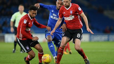 Grant Ward and Cole Skuse join forces at Cardiff. Picture: PAGEPIX