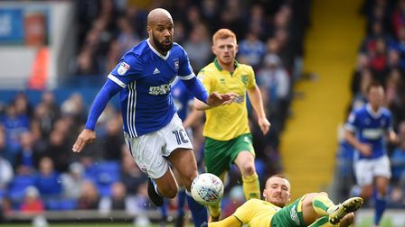 David McGoldrick should return to the Ipswich Town team today after being rested in midweek. Photo: