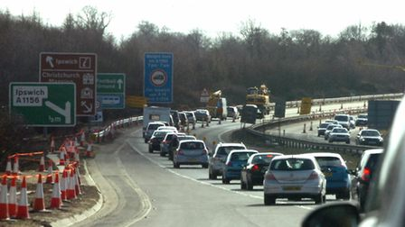 Roadworks planned for the coming week include closures to the A14 around Claydon. Picture: ARCHANT L