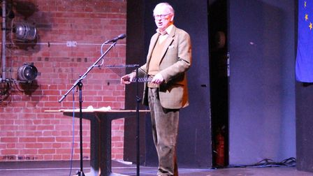 Lord Deben addresses the audience. Picture: GEORGE HARVEY