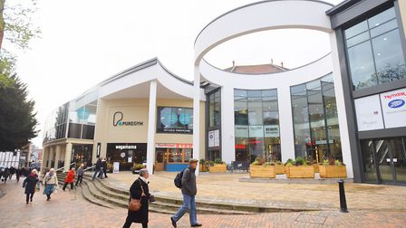 The alleged incident happened near the Buttermarket in Ipswich. File picture: GREGG BROWN