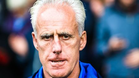 Town manager Mick McCarthy pictured ahead of the Ipswich Town v Preston North End (Sky Bet Champions