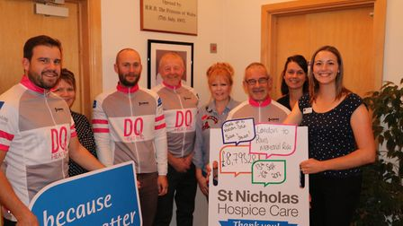 Malcolm Quantrill, Colin Rands, Shaun Quantrill and Stewart Double and supporters present St Nichola