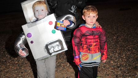 William, Alan and Jake dressed up for the fundraising walk.Picture: SARAH LUCY BROWN