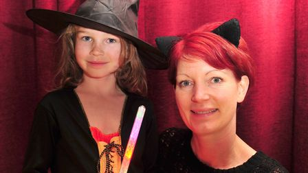 Lola and Jo Hargreaves ready for the glow walk. Picture: SARAH LUCY BROWN