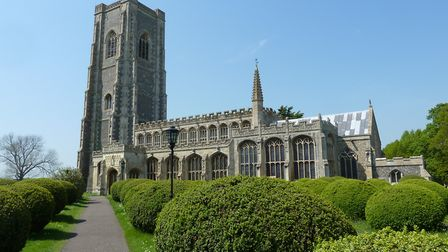 �100,000 worth of damage was caused to Lavenham's St Peter's and Paul's church. Picture: JANICE POUL
