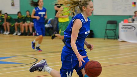 Ipswich's Harriet Welham scored 30 points in the first half alone at Mansfield. Picture: PAVEL KRICK