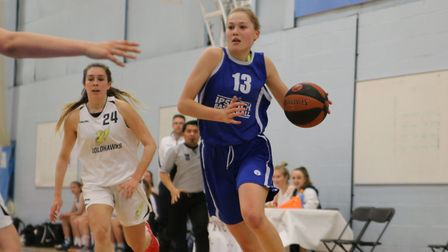 Esther Little had a triple double for Ipswich at Mansfield. Picture: PAVEL KRICKA