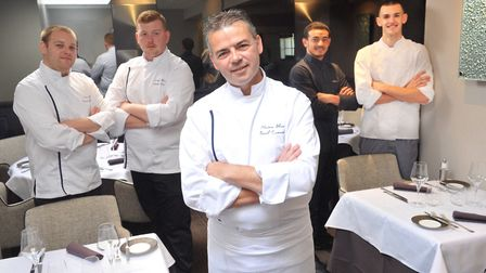 Pascal Canevet and his team at Maison Bleue. Picture: LUCY TAYLOR PHOTOGRAPHY