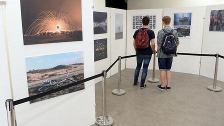 Student photographers at One sixth form at Sailmakers Shopping Centre in Ipswich. Picture: PAGEPIX L