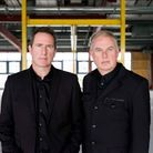Andy McCluskey and Paul Humphreys of Orchestral Manoeuvres in the Dark who play Southends Cliffs Pa