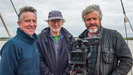 From left: Journalist John McCarthy, film producer Malcolm Hodd and director/cameraman Tim Curtis. P