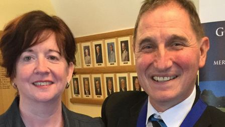 Bob Tawell, manager of Rushmere Golf Club has taken over from Judy Barker (left), manager of Bishop'
