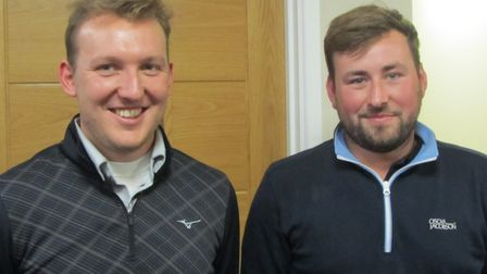 ALLIANCE WINNERS: James Hastie (left) and Brian Hastie of Haverhill who won the better ball Stablefo