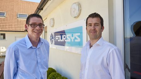 James Miller and Jez Turner, directors of Foursys, now Chess CyberSecurity, at the time of its move