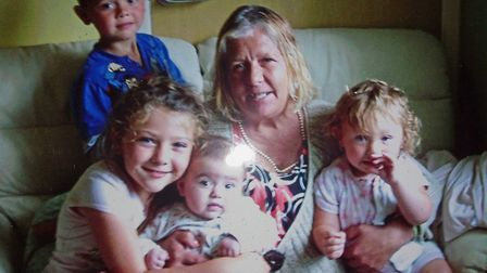 Heather Loveridge with some of her grandchildren. Picture: FAMILY HANDOUT/PA WIRE