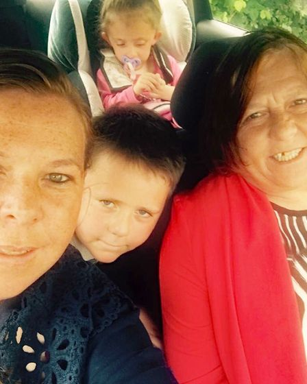 Heather Loveridge (right), with her daughter, also called Heather Loveridge, and two grandchildren C