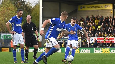 Bersant Celina scores his match winning goal at Burton Albion on Saturday Picture Pagepix