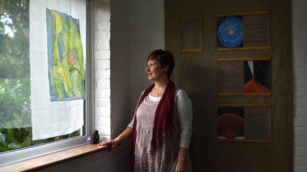 Marie Grueberova's art exhibition, the Grieving Mother, will be at St Mary's Church, Mendlesham, fro