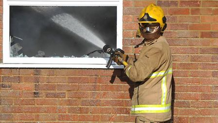 Firefighters were called after a motorbike was set alight in Halstead. Picture: ARCHANT LIBRARY