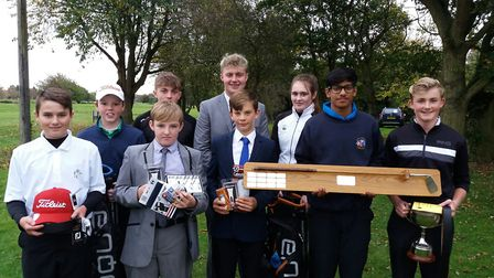 Winners at the Newton Green junior open which rounded off the golfing season in Suffolk. Photograph: