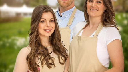 The finalists of The Great British Bake Off 2017; Kate, Steven & Sophie. Picture: MARK BOURDILLON