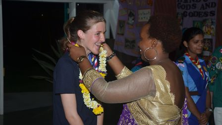 Jess Shire in India. Picture: CONTRIBUTED