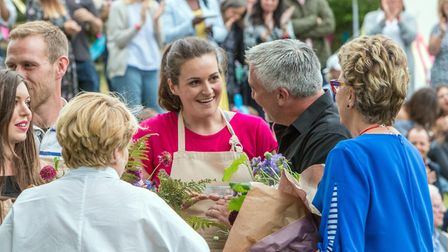The moment Sophie Faldo is crowned this year's winner of The Great British Bake Off. Photo: Mark Bou