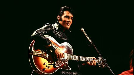 Elvis Presley in his performing prime. Technology keeps bringing him back from beyond the grave. Pho