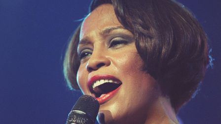 Whitney Houston as performs on stage at Wembley Arena in London.Photo: PA