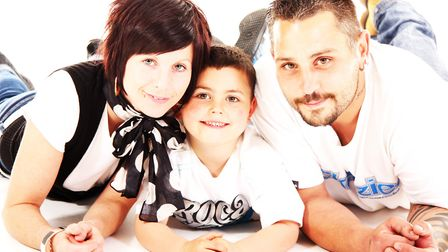Family photos taken of Dean Stansby with his family. Picture: TAYLOR MADE PORTRAITS