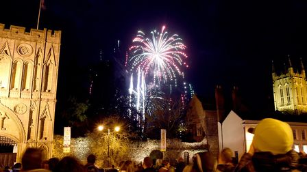The annual Bury St Edmunds Round Table fireworks display in the Abbey Gardens on Saturday night. The