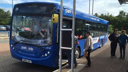 Extra park and ride services will run during the Christmas season. Picture: PAUL GEATER