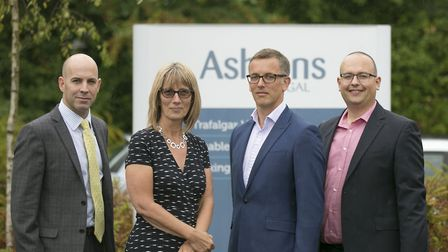 From left Russell Fox, Jane Gaynor, Ben Hallatt and Julian Baume of Ashtons Legal. Picture: DAVE RIC