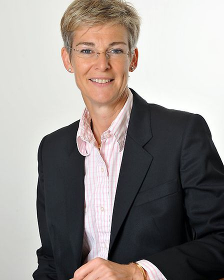 Sarah Evans, who is to retire as chairman of Ipswich Building Society.