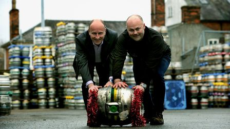 Managing director of Brewing & Brands Clive Chesser and master brewer Craig Bennett joined forces to