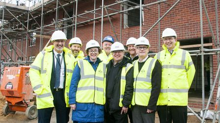 New council houses are being built at Widgeon Close, but not enough to please borough leader David E