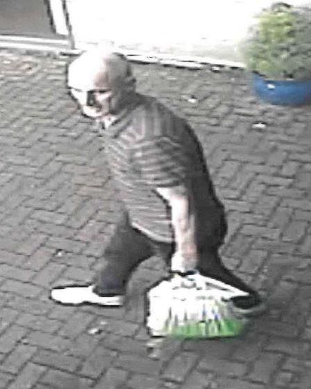 Police would like to speak to this man in connection with a theft in Kessingland. Picture: SUFFOLK C
