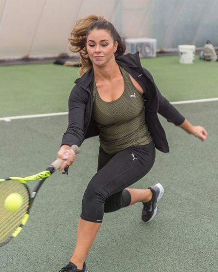 Leoni Waghorn in action at the Elena Baltacha Academy. Picture: PAVEL KRICKA