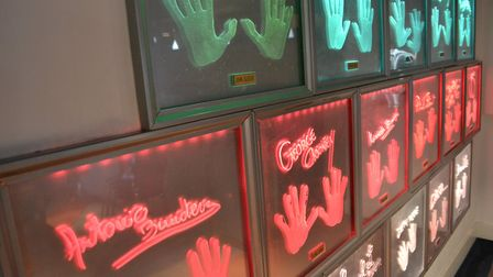 Wall of hands at Planet Hollywood